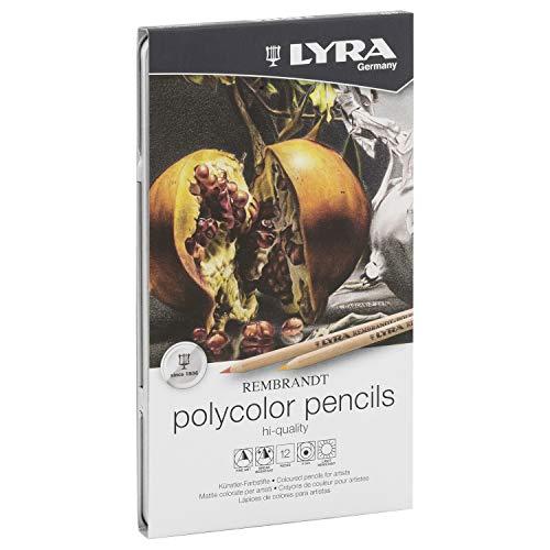 (LYRA Rembrandt Polycolor Art Pencils, Set of 12 Pencils, Assorted Colors (2001120))