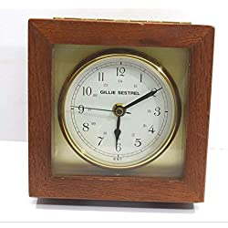 Gillie & Sestrel Chromometer Clock | Maritime Atlantic Admiral Collection Clock | Brass Wooden Clock | Marine Chronometer -Excellent One