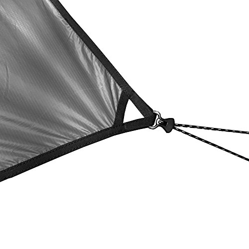 Outdoor Vitals – Ultralight Tarp for Hammock/Shelter – 20D Silpoly (Charcoal, Chief (6 Sided))