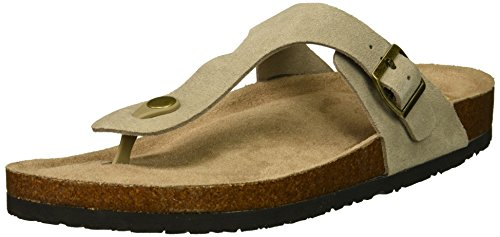 Pyramid Buckle - Skechers Women's Granola - Pyramids - Buckle Thong Slide Flip-Flop, Taupe, 10 M US