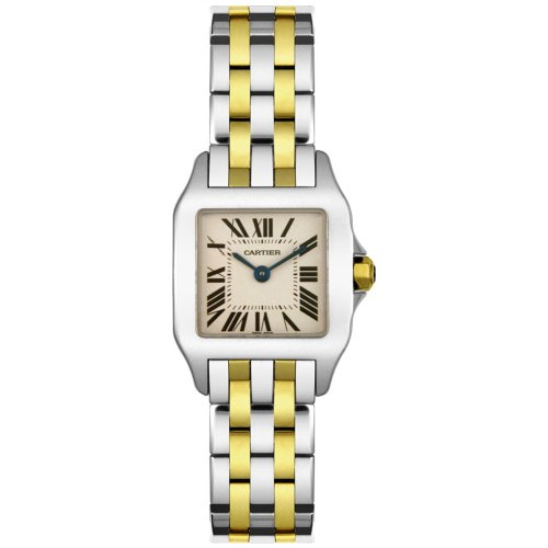 bba8f5dbb330 Amazon.com  Cartier Women s W25066Z6 Santos Demoiselle Stainless Steel and 18K  Gold Watch  Cartier  Watches