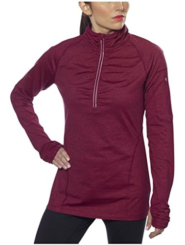 Kirkland Signature Womens Active1/4 Zip Ruffled Pullover (XX-Large, Red)
