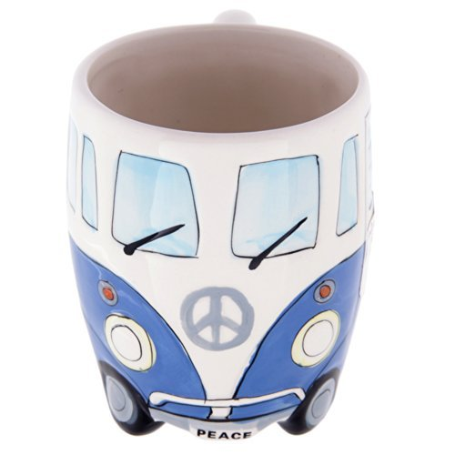 Volkswagen - Blue Ceramic Shaped Coffee Mug / Cup (VW Camper Van / Bully / - Level Volkswagen