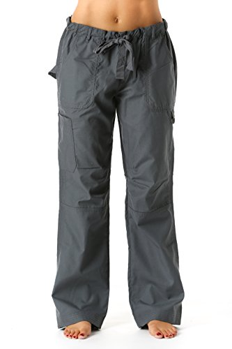 24000PSTLGRY-L Just Love Women's Utility Scrub Pants