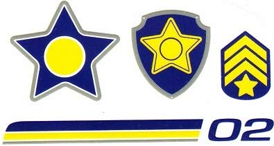 3 Inch Chase Badge Decal Paw Patrol Pup Wall Decal Sticker Pups Puppy Puppies Dog Dogs Removable Peel Self Stick Adhesive Vinyl Sticker Art Kids Room Home Decor Children 3 x 4 inches