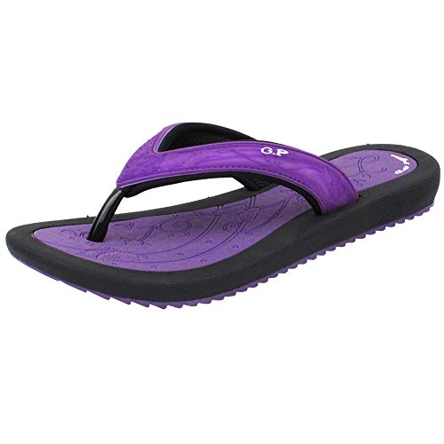 Gold Pigeon Shoes GP Breeze Light Weight Flip Flops for Women: 6883 Purple, EU39 (US Size 8-8.5) (Remove Pigeons)