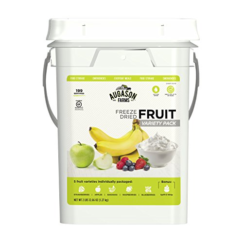 Augason Farms Fruit Variety Pail Long Term Food Storage Everyday Food Prep Camping Hiking 4 Gallon - Farms Fruit Dried
