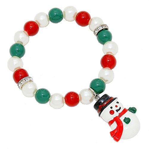 Charm Beaded Snowman (Snowman Beaded Charm Bracelet)