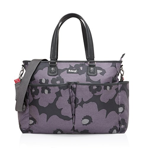 Babymel Bella Shoulder Bag Diaper Bag, Floral Grey