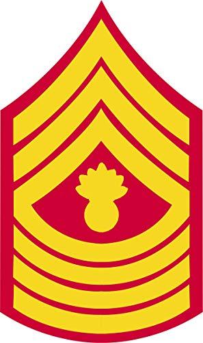 USMC Gold on Red Chevron Magnet (Master Gunnery Sergeant - Gunnery Master Usmc Sergeant