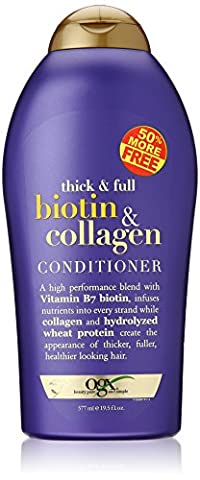 OGX (Thick & Full) Biotin & Collagen Shampoo + Conditioner 19.5oz, Duo-Set (Thick And Fuller Conditioner)
