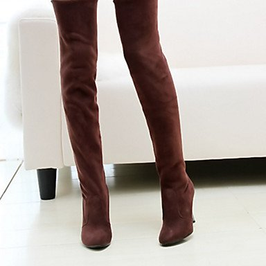 Shoes 5 UK8 US10 Toe Career Spring Pointed CN43 amp; Stiletto Women's 5 Summer Boots Heel Suede Thigh Comfort Novelty Boots Office Fashion Boots EU42 high RTRY For Dress 4qO5gB7