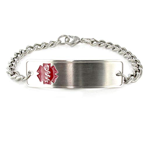 - Stainless Steel Classic Red Bracelet (8 inch)