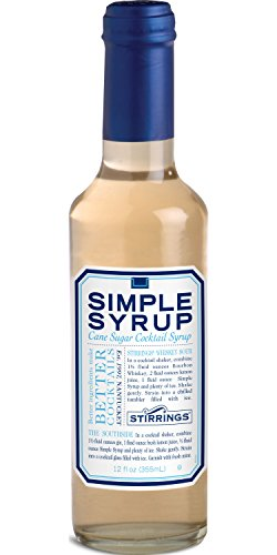 Stirrings Mixer Simple Syrup, 12 oz. - Pack of 2 1 Made with Pure Cane Sugar! Only the highest quality ingredients! No High Fructose Corn Syrup! Perfect for making cocktails, sweetening coffee/tea, and any beverage!