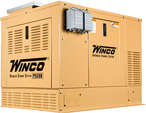 Winco Generators 16400-047 Model PSS8B2W SOLAR Packaged Standby System Generator with Solar Charger, 5600W LP Running, 5040W NG Running, Briggs & Stratton Vanguard Engine, DSE 3110 Digital Controller