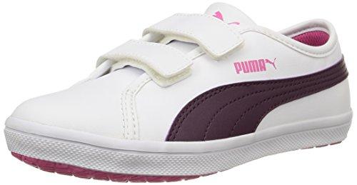 Puma Elsu SL F - Zapatilla Baja Unisex Niños white/italian Plum