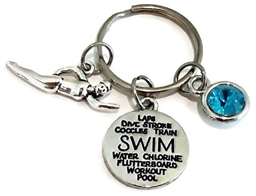 - Swimming Keychain, Swim Keychain, Swimming Charm Keychain, Swim Coach Keychain, Swim mom Keychain, Swim Charm, Swim Gift, Swimming Key Ring, Swim Key Ring