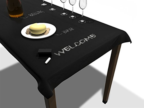 Premium Erasable Chalkboard Tablecloth / Table Runner for Parties, Decor, Children, and Dinner Events