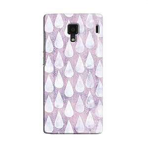Cover It Up - Raindrops Print Purple Redmi 1s Hard Case