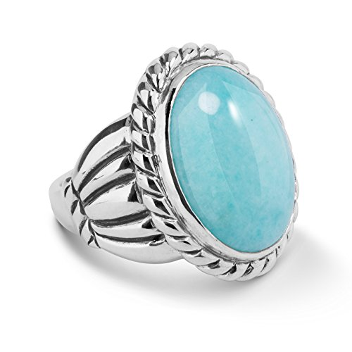 american-west-genuine-925-sterling-silver-amazonite-oval-rope-ring