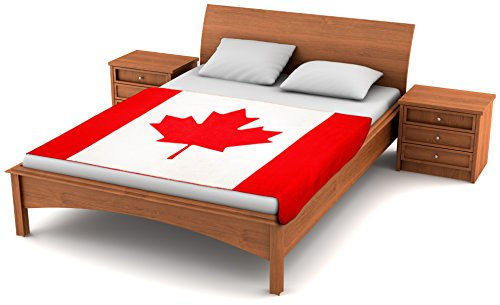 Fuzzy FlagsTM Fleece Canadian Flag Blanket - 80-inches x 50-