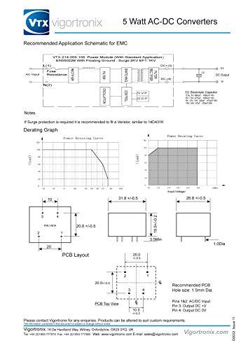 5 W SMPS AC 5 V DC Converter 90-265 V
