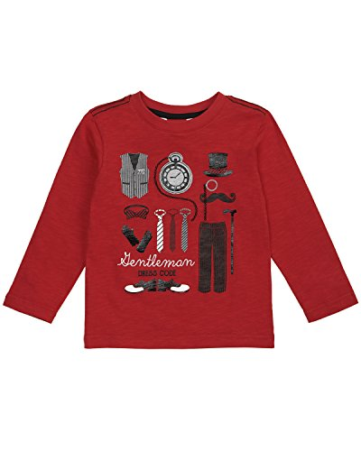 (Petit Lem Boys' Little Lil Mister L/s Knit T-Shirt, red, 4)
