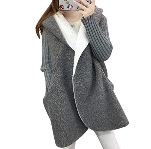 Hoodie Hoodie Giaccone Giacca Base Transizione Moda Outwear Grau Di Vintage Vintage Vintage Sciolto Casual Cappuccio Donna Autunno Cardigan Mantello Invernali Moda Caldo Con Base OPn6qFY