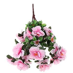 SM SunniMix Fake Flowers Artificial Azalea Silk Planter Flowers Wedding Home Decoration Table Centerpieces 83