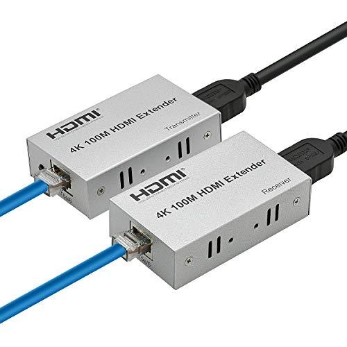 Expert Connect | 4K 330ft HDMI Extender Over Cat5e / Cat6 / Cat7 Ethernet Cable, 1080p, 3D