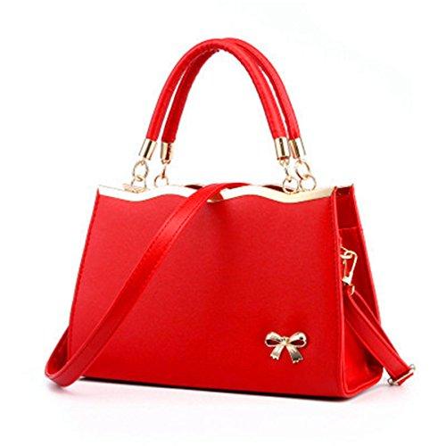 Borsetta donna moda borsa a tracolla diagonale package, rosso