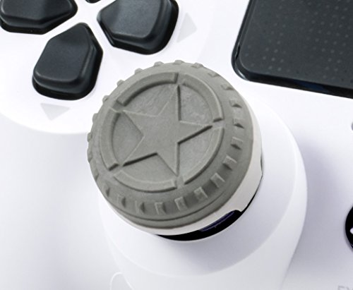 KontrolFreek FPS Freek Call of Duty WWII Heritage Edition for PlayStation 4 (PS4) Controller | Performance Thumbsticks | 1 Mid-Rise, 1 High-Rise Concave | Green 4