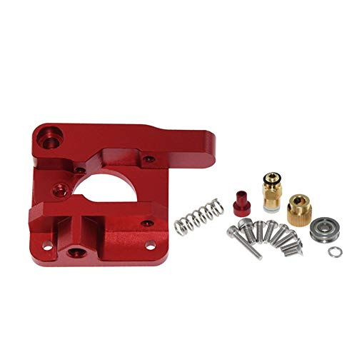 Usongshine CR10 Extruder Upgraded Aluminum MK8 Drive Feed 3D Printer Extruders for Creality 3D CR-10 CR-10S RepRap i3 1.75mm 3D Parts DIY(Red, Right Hand)