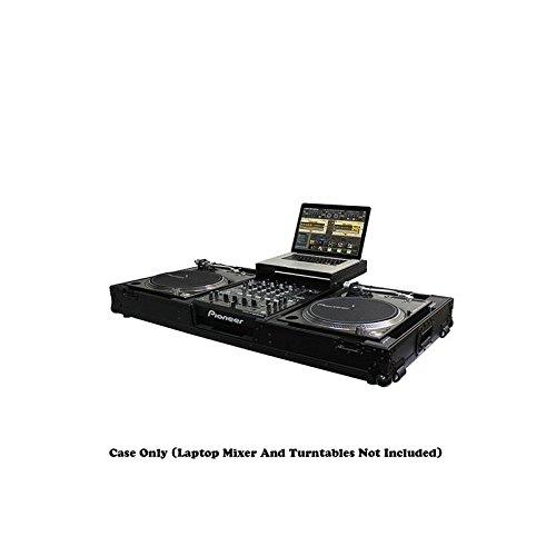 - Odyssey Cases FFXGSLBM12WBL | Flight FX Low Profile Glide Style Universal Turntable DJ Coffin w/Coasters Black