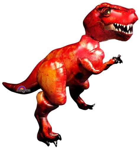 68'' T-Rex AirWalker Shape Balloons - Pack of 5 by Single Source Party Supplies