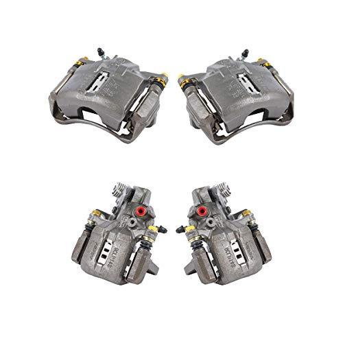 CK01455 FRONT + REAR [ 4 ] Premium Grade Semi-Loaded OE Caliper Assembly Set Kit ()
