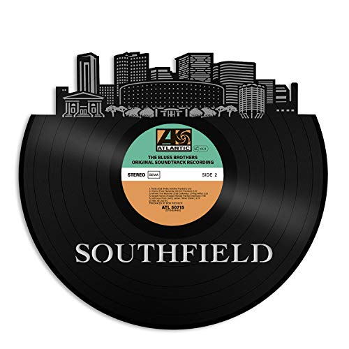 VinylShopUS - Southfield MI Vinyl Wall Art with out Frame City Skyline Unique Gift for Best Friends Men Women Anniversary Office and Bedroom | Home Decoration