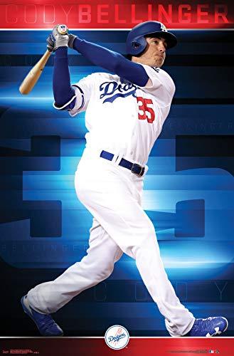 Mlb Wall - Trends International Los Angeles Dodgers-Cody Bellinger Mount Bundle Wall Poster 22.375