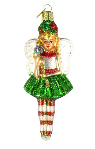 Old World Christmas Holly Fairy Glass Blown Ornament