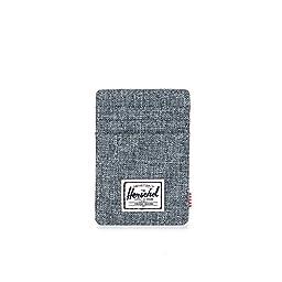 Herschel Supply Co. Men\'s Raven Card Holder With Money Clip, Raven Crosshatch, One Size