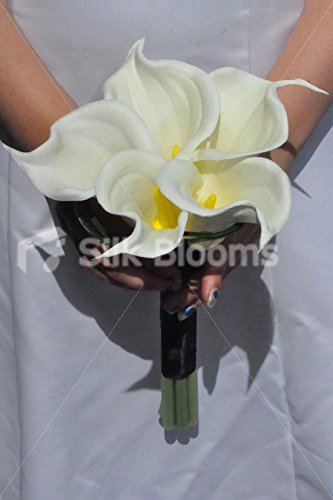 Artificial Fresh Touch Ivory Calla Lily Round Hand Tied Bridesmaid Posy