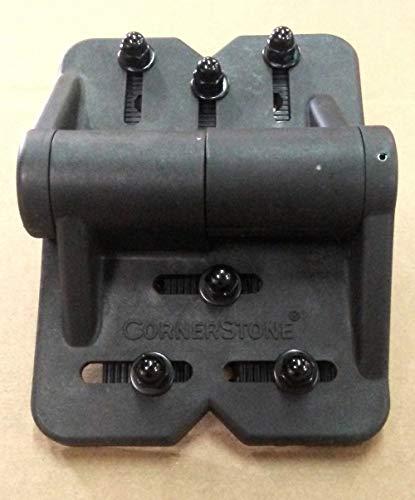CornerStone Super Heavy Duty 4-Way Adjustable Spring Hinges (One Pair) (Black)
