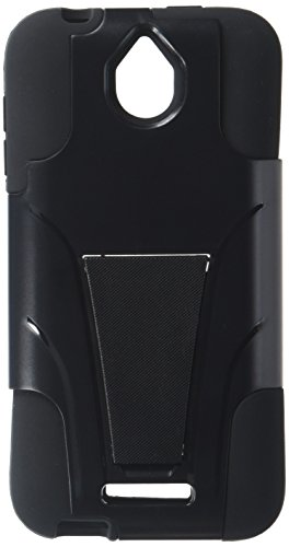 Eagle Cell Hybrid Protective Case with Stand for HTC Desire 510 - Retail Packaging - Black (Boost Htc 510 Desire Phone Cases)