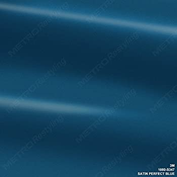 3M 1080 S347 Satin Perfect Blue 3in x 5in (Sample Size) Car Wrap Vinyl Film