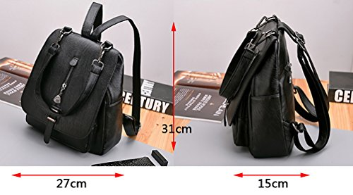 Pu Comfortable Shoulder Bag Leather Strap Shoulder Backpack Red Himaleyaz Bag Removable Backpack Lady Girls Black With aw4TZqxgP