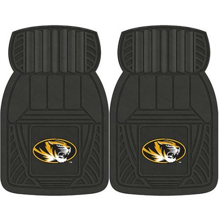 NCAA 4-Piece Front #36572585 and Rear #19888849 Heavy-Duty Vinyl Car Mat Set, University of Missouri by Sports Licensing Solutions LLC