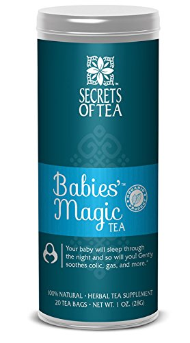 Secrets of Tea Baby Colic Babies' Magic Tea - Organic, Natural, Safe - Calming & Soothing Relief for Baby Acid Reflux, Gas, Colic - Your Baby Will Sleep Thru the Night Guaranteed - 20 Units
