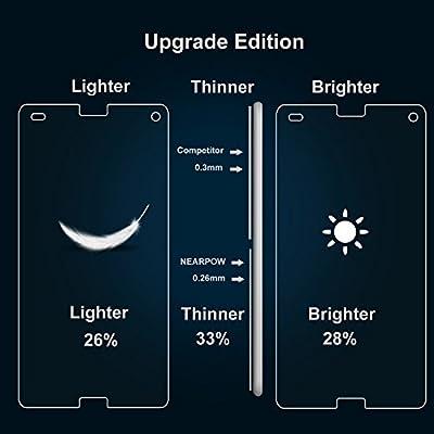 3 unidades] Sony Xperia Z3 Compact Protector de Pantalla, NEARPOW [3 Unidades] Cristal Templado Protector de Pantalla para Sony Xperia Z3 Compact, Vidrio templado con [9H Dureza] [Alta Definicion] [S: Amazon.es: Electrónica