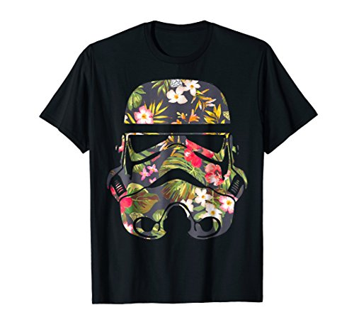 Star Wars Tropical Stormtrooper Floral Print Graphic T-Shirt]()