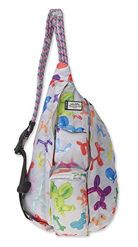 KAVU Mini Rope Pack Sling Bag Crossbody Shoulder Polyester Sling Backpack - Balloon Zoo